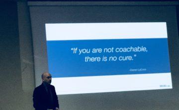 Se non sei coachable non c'è cura. Darren Lacroix
