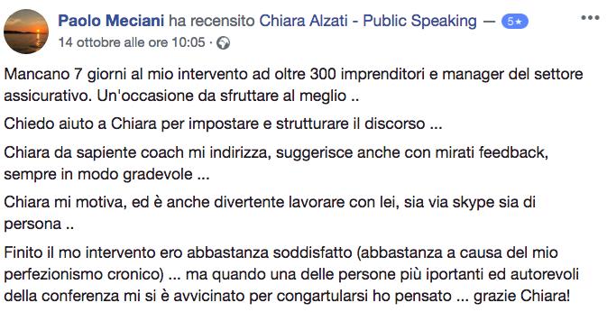 Testimonianza Chiara Alzati Public Speaking