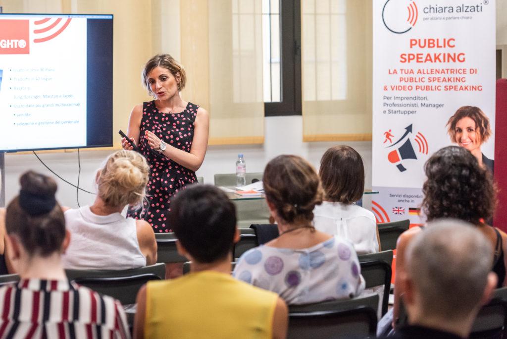 Mini Corso di Public Speaking con Chiara Alzati