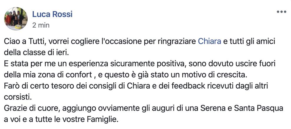Chiara Alzati Classe Virtuale di Public Speaking
