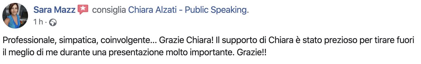 Consulenze Individuali di Public Speaking con Chiara Alzati