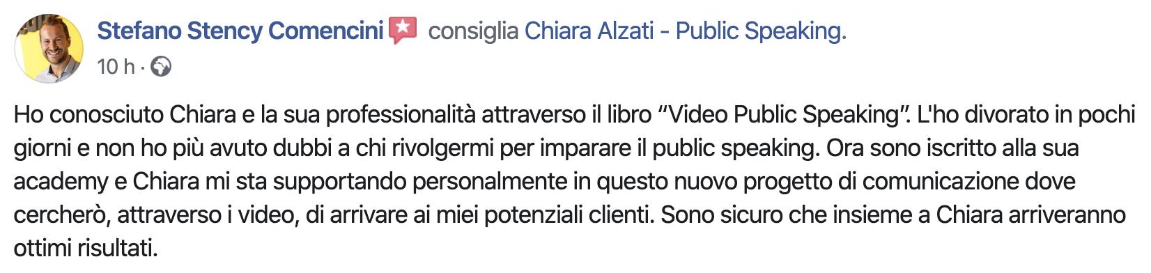 Chiara Alzati Accademia del Public Speaking